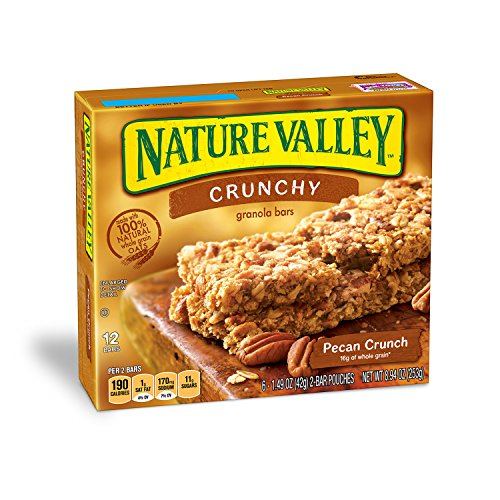 (Nature Valley Granola Bars, Crunchy, Pecan Crunch, 8.94 Ounce, Pack of 12 (144 count))