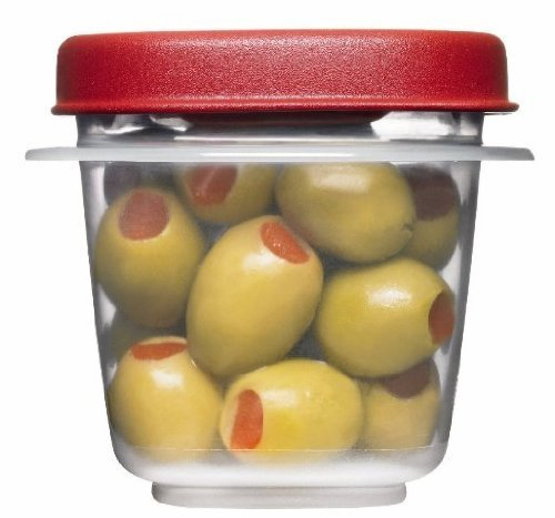 Rubbermaid 781147422084 Easy Find Lids Square 1/2-Cup Food Storage Container (Pack of 8 Cups), 8 Counts