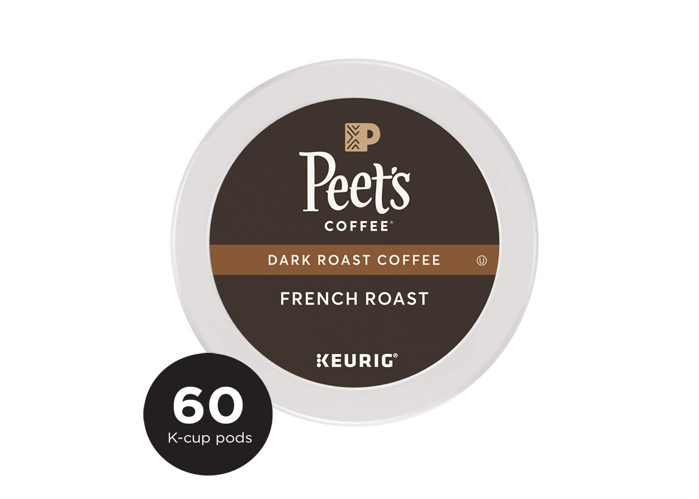 Peet's Coffee French Roast, Dark Roast, 60 Count Single Serve K-Cup Coffee Pods for Keurig Coffee Maker by Peet's Coffee