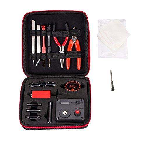 DIY Coil Building Tool Kit RBA/RDA/RTA Coil Jig Kits V3,14 Pieces General Household Tool Master kit Organic Cotton/Ceramic Tweezers/ 521 Tab Mini V2