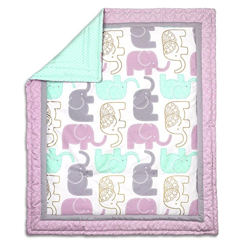 little lilac gold elephant crib