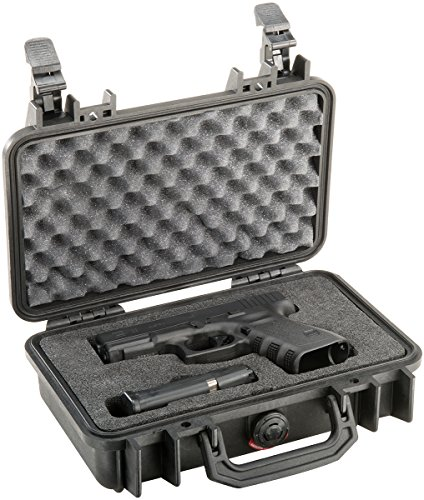 Pelican 1170 Pistol Case (for compact and subcompact guns) - - Cut Shield Out