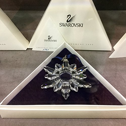 Swarovski Snowflake Annual Crystal Ornament Dated 1998 in Original -