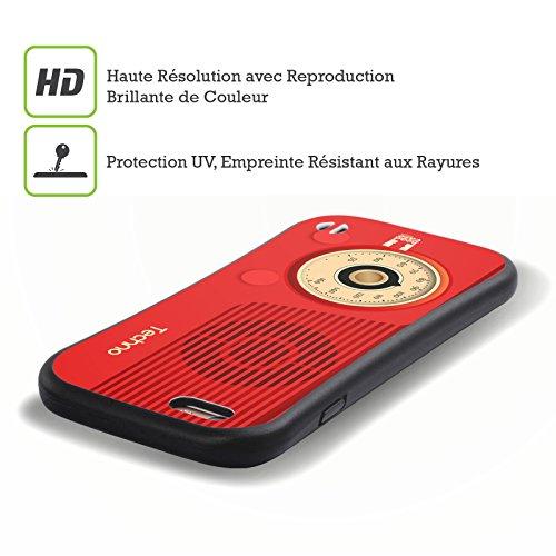 Head Case Designs Techno Vintage Radio Phone Hybrid Gel Back Case for Apple iPhone 5 5s