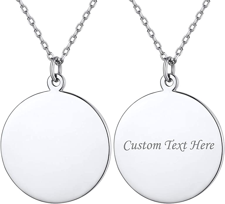 Valentine/'s Day Gift Personalized Necklace with Birthstone and Your personal Text