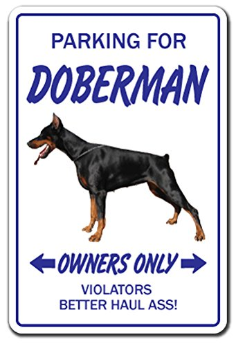 - [SignJoker] DOBERMAN ~Novelty Sign~ dog pet parking gift working Wall Plaque Decoration