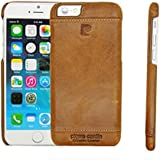 Pierre Cardin Luxury Leather Back Case Cover for iPhone 6 - Brown
