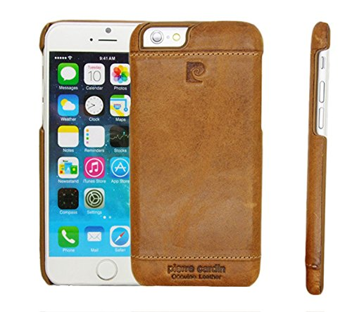 sports shoes ac9fd cb724 Kapa Luxury Leather Back Case for iPhone 6 (Brown)