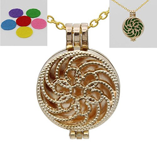 25mm 3pcs Round Pad Frame Locket Necklace Fragrance Oil Aromatherapy Diffuser - E1 Frame