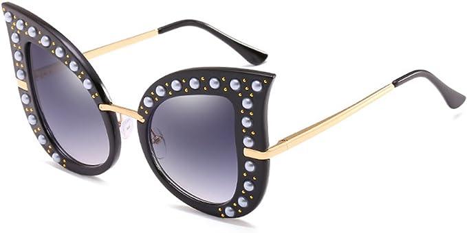 Designer Cat Eye Sonnenbrille mit Strass Schwarz oder Rosa Linse Vintage Rahmen