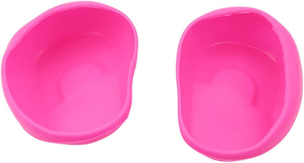 Hi-Unique 1 Pair Reusable Silicone Ear Cover Hair Dye Coloring Shield Cap Protects Ear from Dryers Irons Chemicals