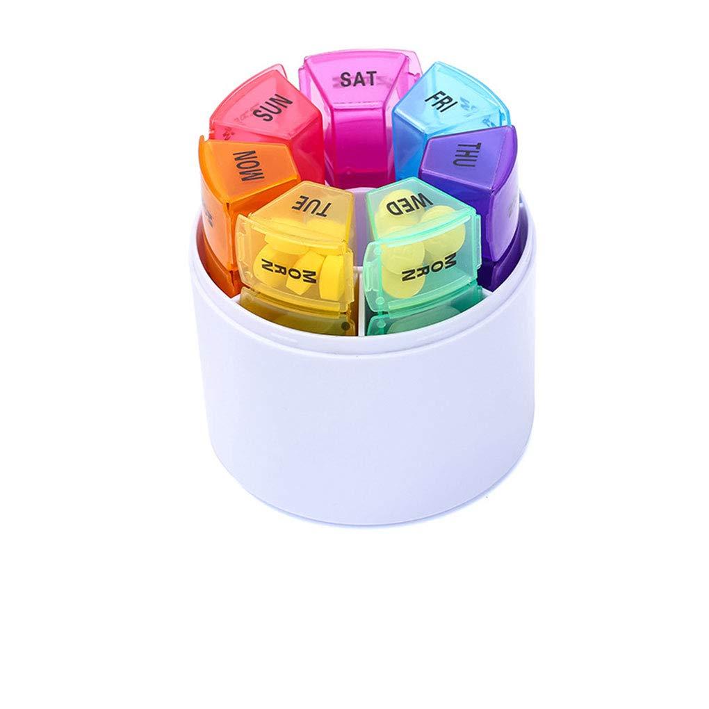 Lidahaotin 28 Grid 7 Day-Art Pille-Halter-Speicher-Organisator Kunststoff-Behälter-Kasten-beweglicher Spielraum-Pille-Kasten