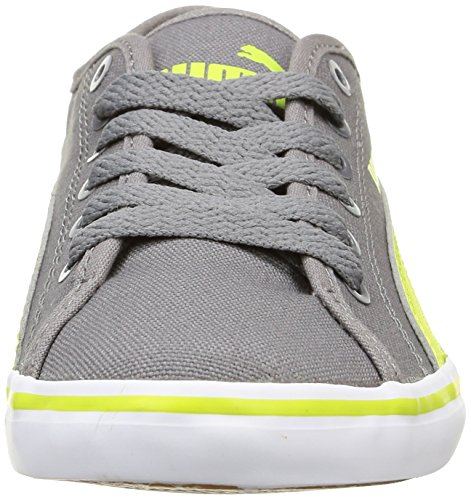 Puma Elsu V2 CV Jr Unisex-Kinder Low-Top Grau - Grau (Stahlgrau / Lime Punch)