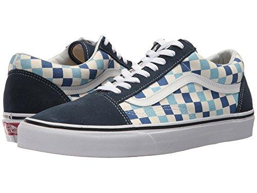 Vans U Old Skool (QCM) (Checkerboard) Blue Topaz/Blue (13 Women/11.5 Men M US) by Vans (Image #6)