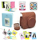 Fujifilm Instax Mini 8 Instant Camera Accessory Bundles Set (Included: Mini 8 Vintage Case Bag/ Sweet Time Instax Mini Book Album/ Rabbit Design Mini 8 Self-Portrait Mirror/ Colorful Close-Up Lens(Filter) For Mini 8/ Colorful Photo Frame/ Colorful Decor Sticker Borders/ Wall Decor Hanging Frame)