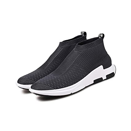d770ce3912fd Amazon.com : Man's Shoes Knit Breathable Sneaker Non-Slip Running ...