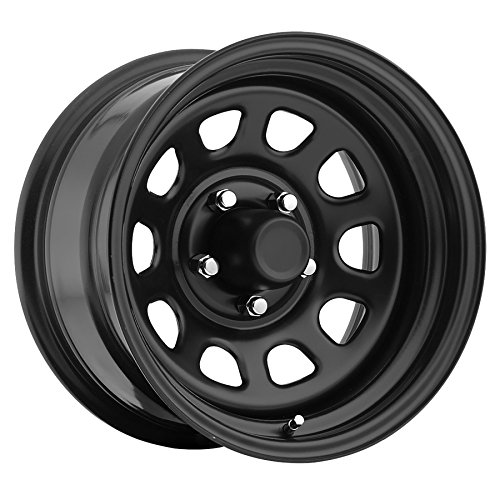 TM5 Steel Wheel; Size 15X8 ;Bolt Pattern: 5x4.5 ;Back Space 4.5 in.; Finish Gloss Black; Uses Center Cap EXC100B; (Steel Wheel Center Cap)