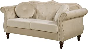 Container Furniture Direct Anna1 Loveseat, Ivory