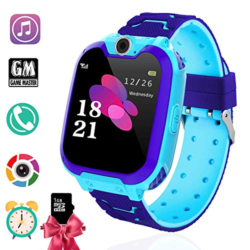 (Kids Games Smart Watch Phone for Boys Girls- MP3 Player Music Watch [1GB Micro SD Included] Kids Game Smartwatch 2 Way Call Alarm Clock Games Camera Wrist Watch for Student)