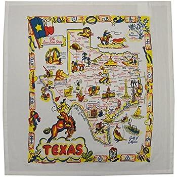 Texas State Map Souvenir Dish Towel