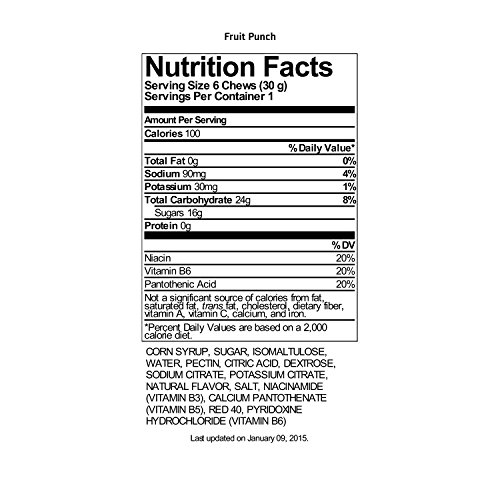 Gatorade Prime Energy Chews, Fruit Punch (Pack of 16)