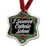Christmas Ornament Classic design I Survived Catholic School - Neonblond