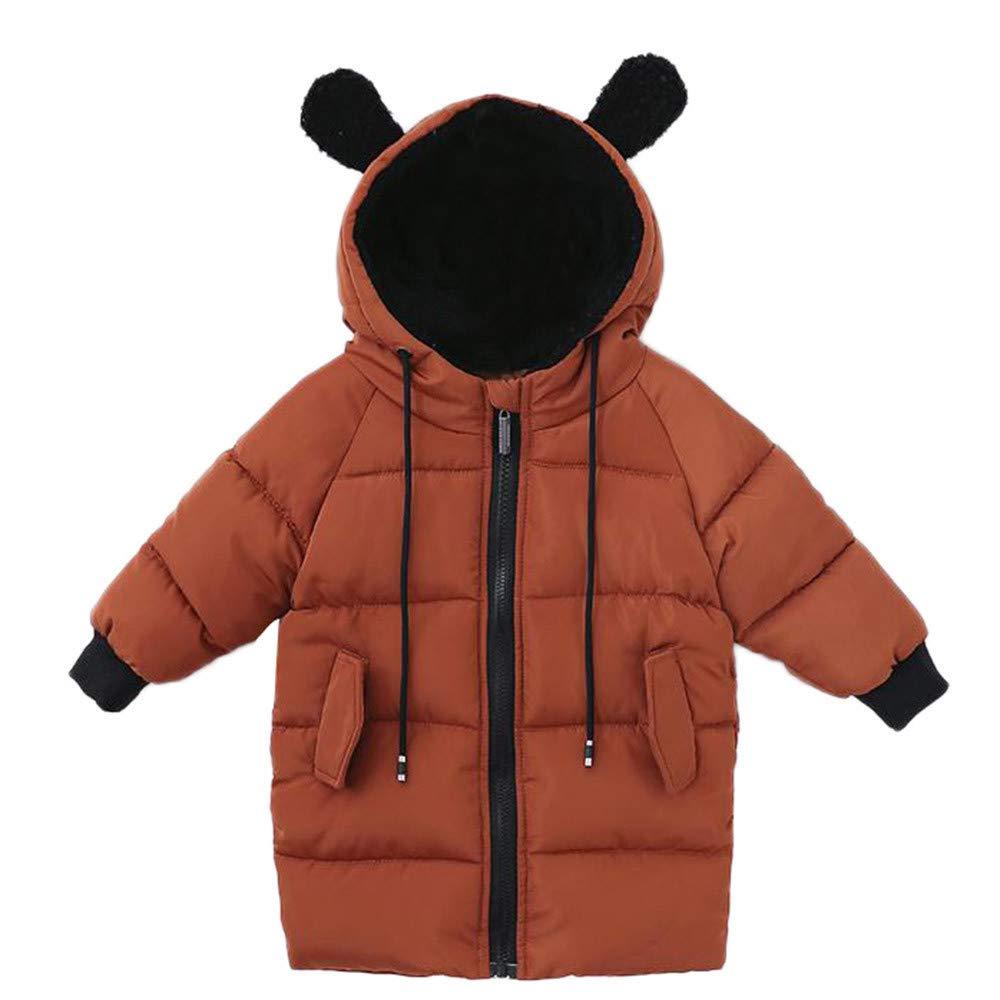 WARMSHOP Unisex Boys Girls Solid Sweatshirt,Long Sleeve Fall Winter Fleece Hooded Warm Casual Outwear Pullover Tops