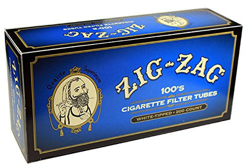 (Zig Zag Light Blue RYO Cigarette Tubes - 100's - 200ct Box (5 Boxes))