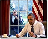 President Barack Obama and Comedian Jerry Seinfeld Oval Office 8x10 Silver Halide Photo Print