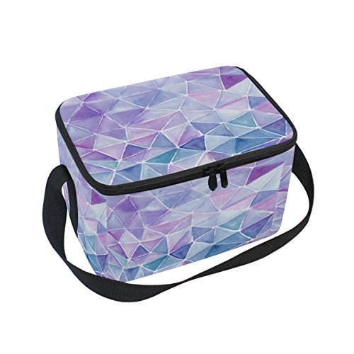 ALAZA Watercolor Triangle Insulated Lunch Bag Box Cooler Bag