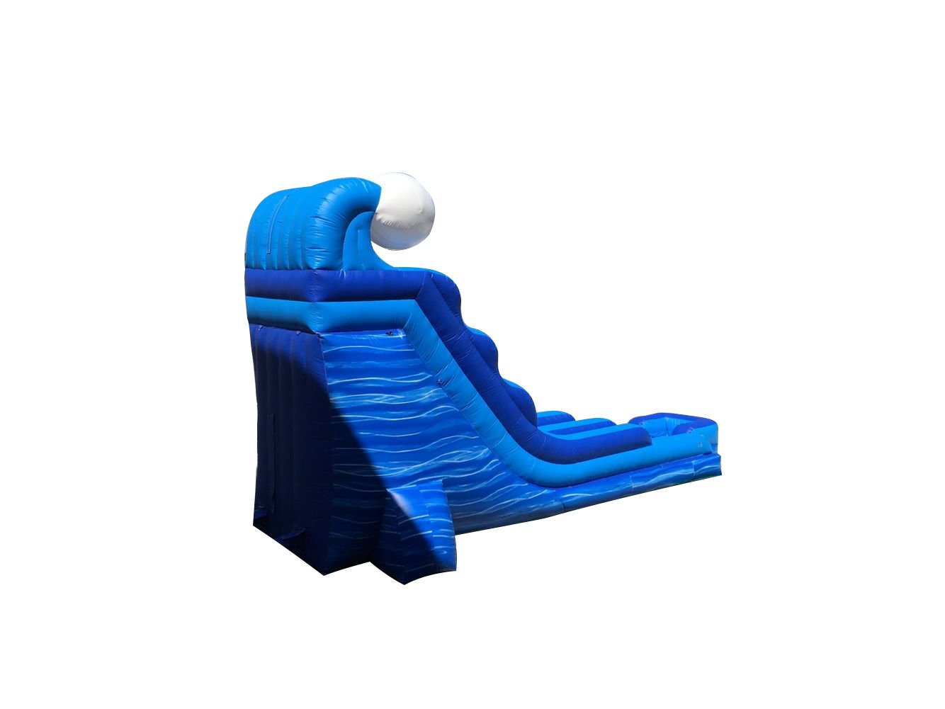 Amazon com 18 foot tidal wave marble inflatable water slide wet or dry commercial grade 1 5 hp blower and stakes included toys games