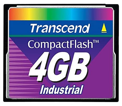 Transcend CompactFlash Card 4GB Industrial 45x Memoria Flash ...