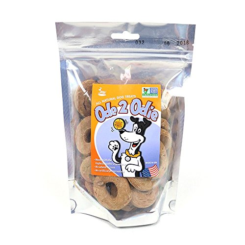 4Legz All Natural Dog Treats 7-8 oz - With Organic Ingredients - GMO Free - Made In USA (Peanut Butter and Carob Chips Ode 2 Odie)