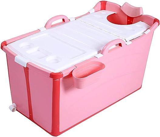 Couleur : Pink, Taille : Small Wadse Baignoire Pliable Adulte//Enfants en Plastique Grand b/éb/é Natation Portable//Baignoire Non Gonflable//bac /à Laver