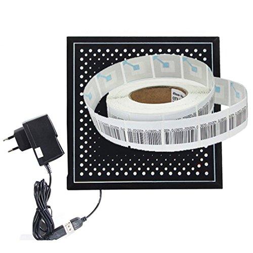 RF8.2Mhz supermarket security label deactivator1pcs+soft label 4cmX4cm1000pcs by ZFD®