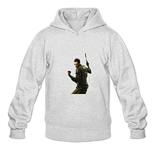 Uitgfgki Men's Deus Ex Human Revolution4 Sweatshirt Hoodie XL Light Grey