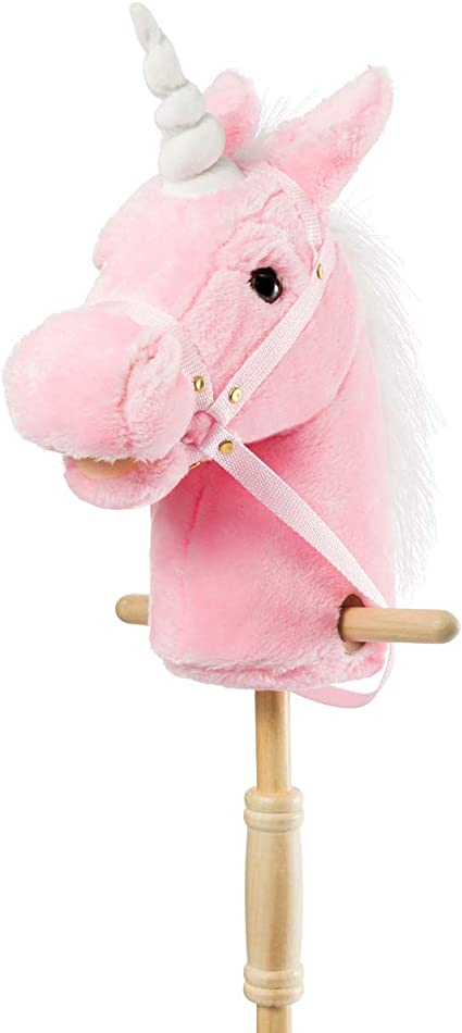NEW Kids Hobby Horse Unicorn Children/'s Soft Toy with Galloping Neighing Sounds