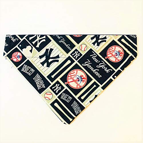 New York Yankees Dog Bandana No-Tie by Barking Bad Bakery and Boutique