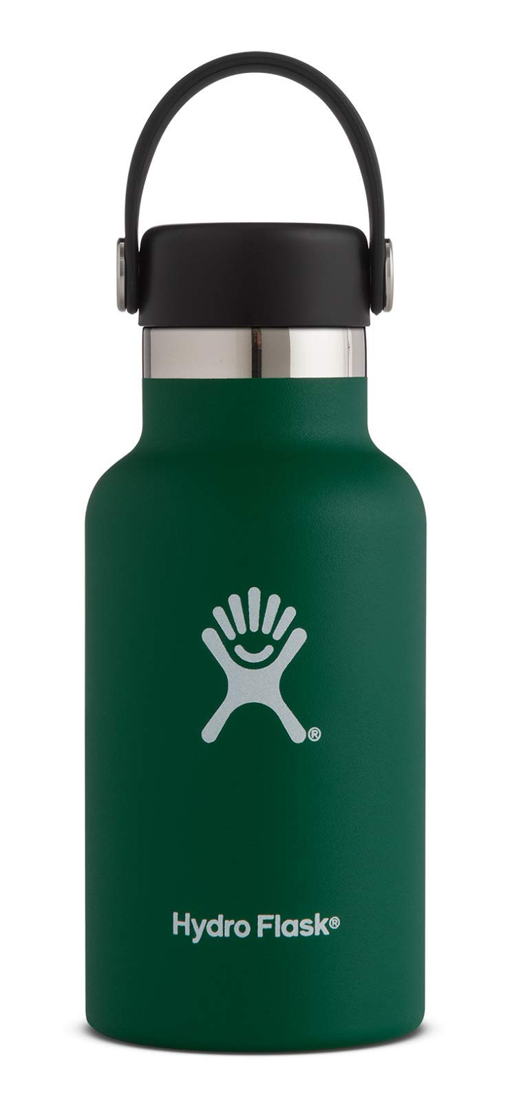 Hydro Flask 12 oz Double Wall Vacuum Insulated Stainless Steel Leak Proof Sports Water Bottle, Standard Mouth with BPA Free Flex Cap, Sage