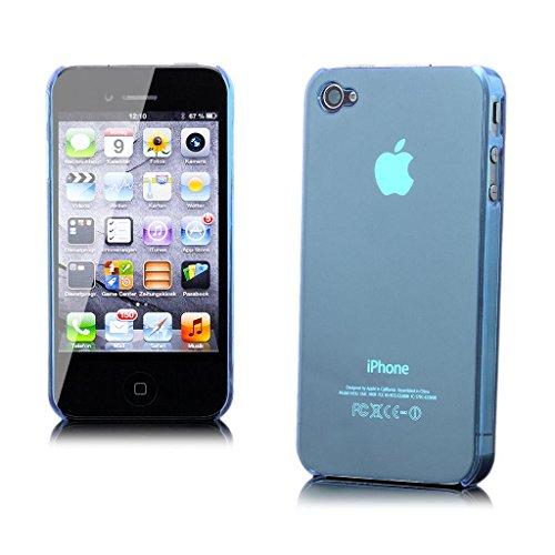 iCues Folie und Neuheit Klar für Apple iPhone 4 hellblau