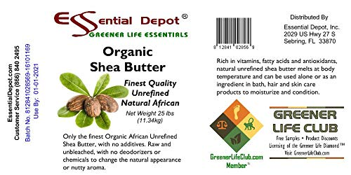 Organic Shea Butter Pail - Unrefined - 25 lbs by Essential Depot (Image #4)