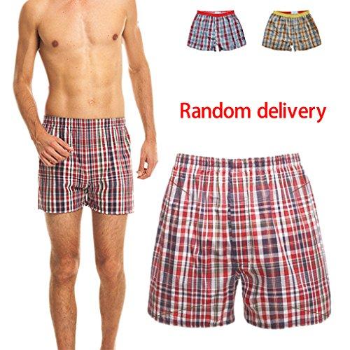 Sous-vêtements Mémoires Hommes Plage Coton Shorts En Coton Boxer Respirant Panty Knickers Livraison Aléatoire Minzhi Rancom Couleur