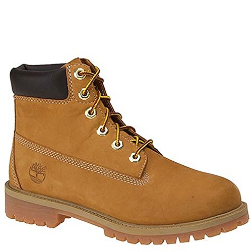 Timberland unisex-child 6'' Classic Boot 6'' Premium Waterproof Boot Wheat Nubuck All Leather 2M by Timberland