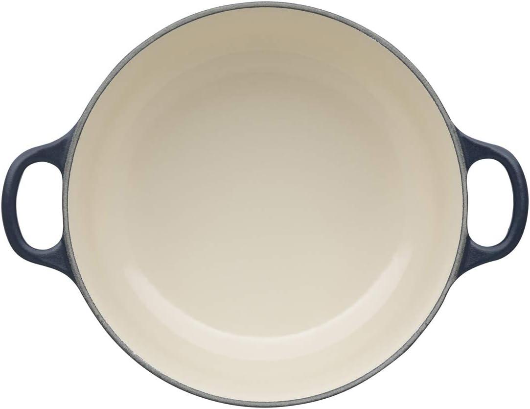 18 cm LE CREUSET Evolution Cocotte con Tapa Todas Las Fuentes de Calor Incl 1,8 l inducci/ón Hierro Fundido Redonda Beige Cream