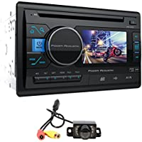 Power Acoustik PD-342 3.4 2Din Car Monitor DVD/CD/USB/SD Player Receiver+Camera