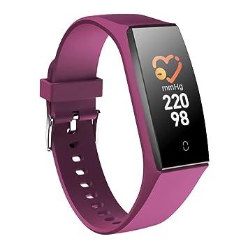 Lacyie (Noir/Violet/Bleu) Montre Connectée Tension Artérielle & Cardiofréquencemètre Bracelet Connecté