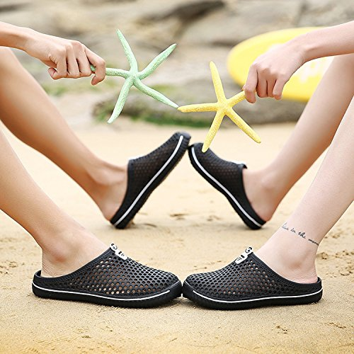 Net Sports 6 Men Beach Slip Clogs Unisex 45 Breathable Casual Colors Shoes junkai Black Mesh Out Sandals Summer 36 Non Women Slippers Hollow Mule Outdoor RXfanwxq
