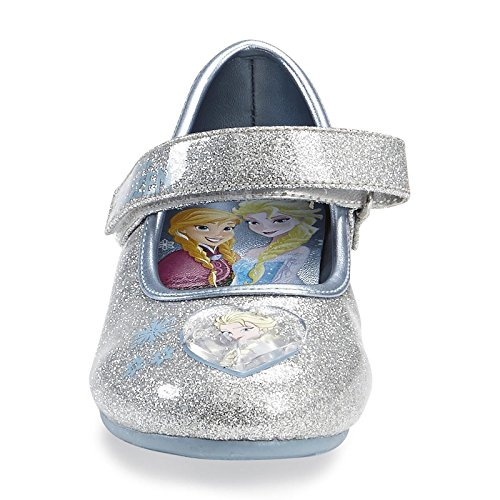 1d07e70d35cc Disney Frozen Elsa Anna Girl's Silver/Blue Mary Jane Shoe for Toddler (7) -  Buy Online in Oman. | Apparel Products in Oman - See Prices, Reviews and  Free ...
