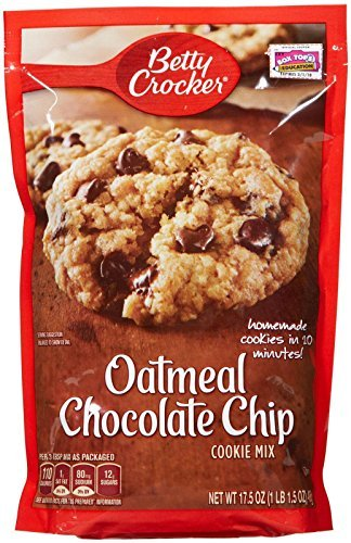 (Betty Crocker Oatmeal Chocolate Chip Cookie Mix - 17.5 oz - 2)