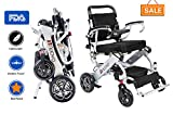 Innuovo Intelligent lightweight foldable Electric Wheelchair, Compact (Net Weight 50 lbs) Power...